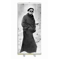 """St. John Paul II the Great """"Pope on a Mission"""" Banner Stand"""
