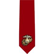 Marine Standard Glossy Poly Satin Necktie