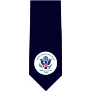 US Coast Guard Standard Glossy Poly Satin Necktie