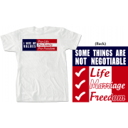 I Vote My Values T-Shirt Red, White and Blue
