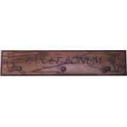 'Pax Et Bonum' Wood Shelf Has Pegs