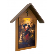 Mary Undoer of Knots Poly Wood Handcrafted Simple Outdoor Shrine