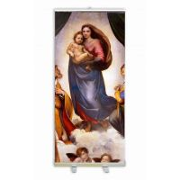 Sistine Madonna by Raphael Banner Stand