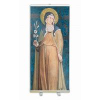 Saint Clare of Assisi by Martini Banner Stand