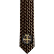Benedictine Cross Christian Catholic Themed Neckties