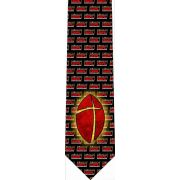 Crossing the Goal Glossy Poly Satin Necktie