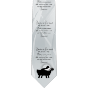 Isaiah 7:14 Catholic Themed Silk Necktie