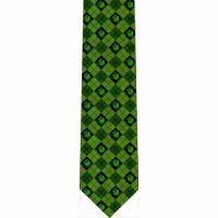 Shamrock Argyle Christian Catholic Themed Neckties