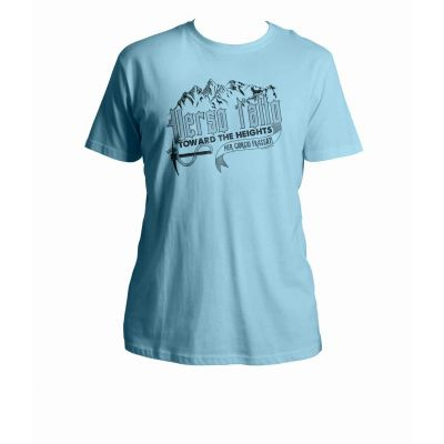 Verso L Alto: Blessed Pier Giorgio Frassati Quote Light Blue T-Shirt -  - T-Q4B