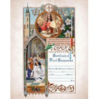 First Communion Sacrament Certificate with Priests Unframed
