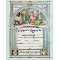 First Reconciliation Sacrament of Confession Certificate Unframed