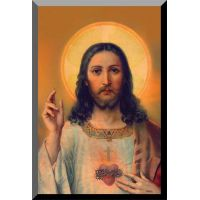Antique Sacred Heart Wall Plaque