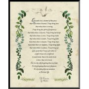 Saint Francis Prayer Graphic Wall Plaque