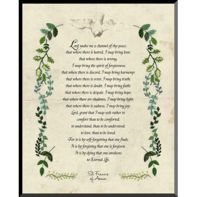 Saint Francis Prayer Graphic Wall Plaque -  - WP-G10