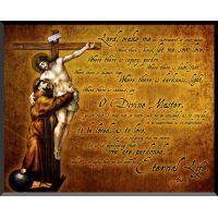 Saint Francis and Jesus Graphic Wall Plaque