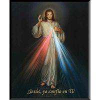 Spanish Divine Mercy Wall Plaque