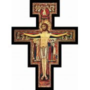 Glossy Finish San Damiano Image Wood Wall Cross