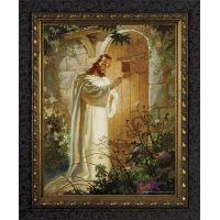 Christ at Heart's Door - Ornate Dark Framed Wall Art