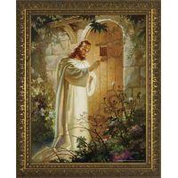 Christ at Heart's Door - Gold Framed Wall Art
