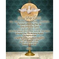 Eucharist with Holy Spirit Wall Plaque