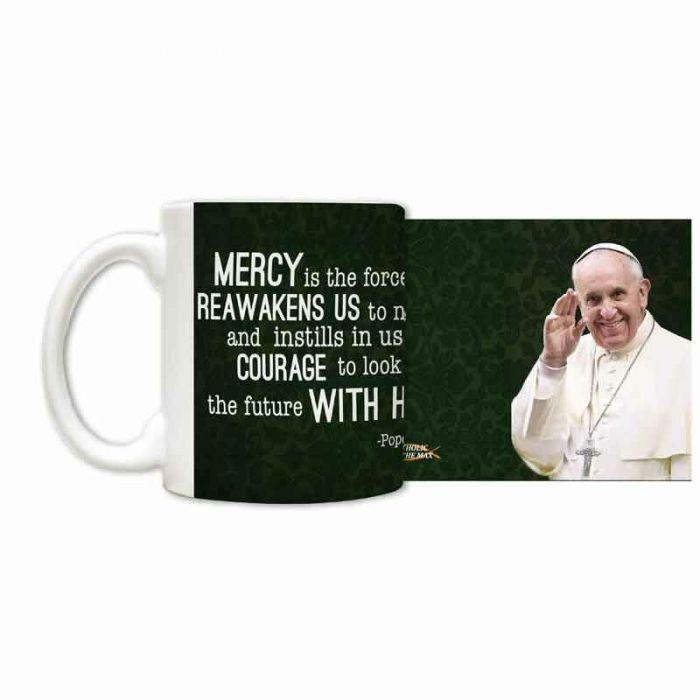 Small Accessories Pope Francis Waving Ceramic 11 Oz Mug