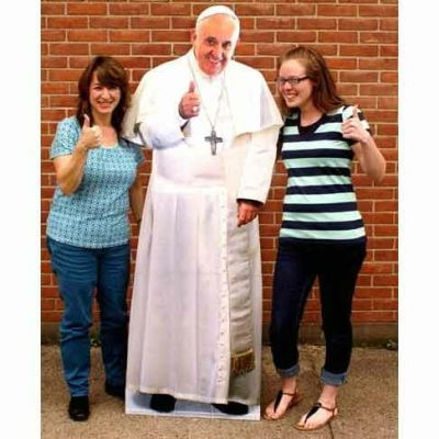 Pope Francis Thumbs Up Lifesize Standee Cut-Out 69 Inches -  - STEE-1857