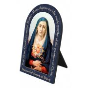 Our Lady of Sorrows Prayer Arched Desk Plaque