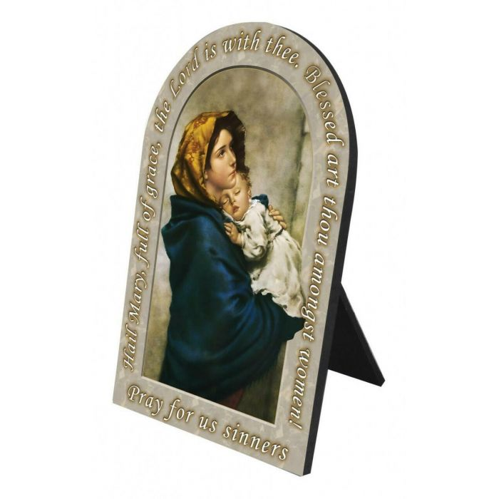 Madonna of the Streets Prayer Arched Desk Plaque