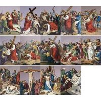 St. Peter's Outdoor Aluminum Stations of the Cross plates (Set of 14)