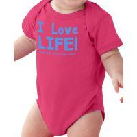 I Love Life! Baby Onesie Cuddly Cotton Creeper