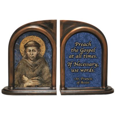 St. Francis of Assisi Bookends -  - BKE-20