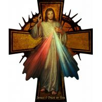 Divine Mercy Large Wall Plaque Cross