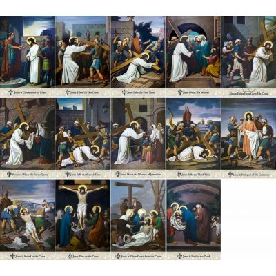 Emmerich Outdoor Aluminum Stations of the Cross plates (Set of 14) -  - APL-415