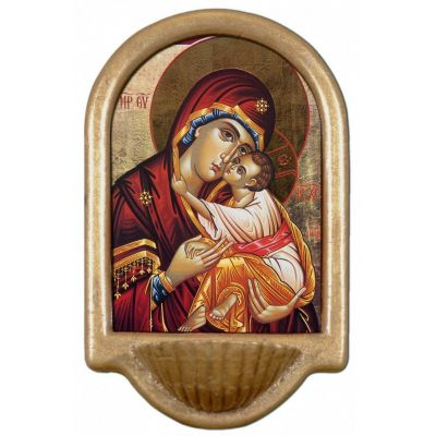 Icon of Mary Holy Water Font -  - HWF-S651