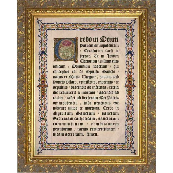 0e5fc09be4dd Latin Apostles Creed Gold Framed Art - - -++¡NW-LT4