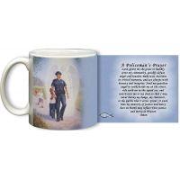 The Protector: Police Guardian Angel 11 Oz Mug with Policeman's Prayer