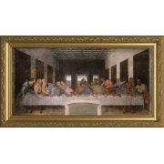 Last Supper by Da Vinci Church-Sized Framed Canvas Art