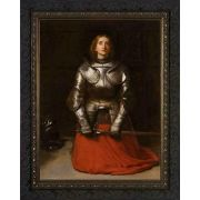 St. Joan of Arc by John Everett Millais Dark Ornate Frame