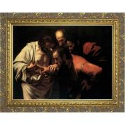 St. Thomas the Apostle by Caravaggio - Ornate Gold Framed Art