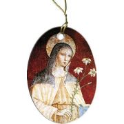 St. Clare of Assisi Porcelain Christmas Ornament