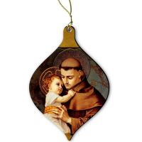Saint Anthony of Padua Wood Ornament