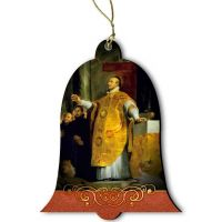 Saint Ignatius of Loyola Wood Ornament