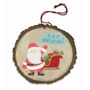 """Vintage """"Ho, Ho, Ho"""" Santa Wood Ornament"""
