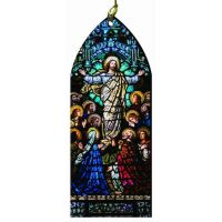 The Ascension Stained Glass Wood Ornament