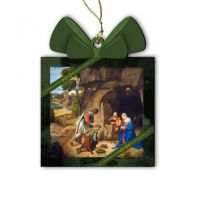 Adoration of the Shepherds Wood Ornament