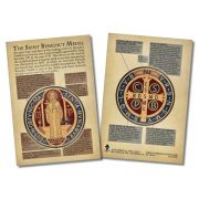 Saint Benedict Medal Faith Explained Witnessing Card - Pack of 50