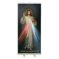 Spanish Divine Mercy Banner Stand