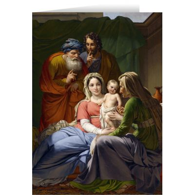 Beautiful Religious Christmas Cards.Holy Family With Grandparents Christmas Cards 25 Cards