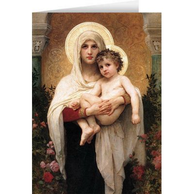 Madonna of the Roses Christmas Cards (25 Cards) -  - STC-C550