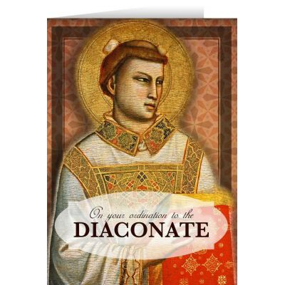 St. Stephen Diaconate Ordination Greeting Card -  - STC-DEAC1X